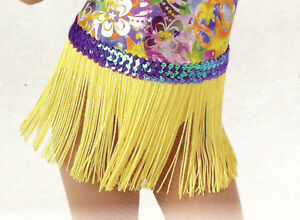 NWT-Lot-of-6-Costume-Yellow-FringeSkirts-Lilac-Sequin-Small-Ch-sz-4-6-Pullup