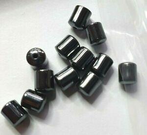 86-Loose-4-5mm-x-4mm-Hematite-Black-Tube-Beads-for-Jewellery-Making-non-metallic