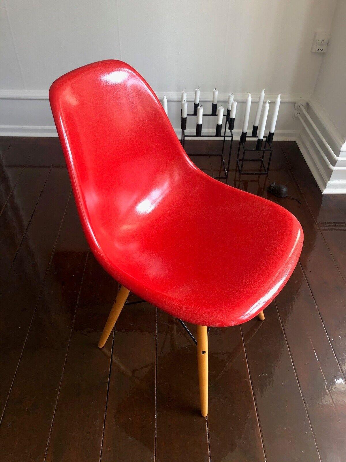 Eames, Glasfiber DSW model, stol