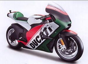 Ducati Desmosedici `11 Drapeaux Rouge/blanc/vert , Maisto Moto Modèle 1:6
