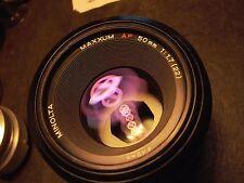 Minolta 50mm F:1.7 AF metal Maxxum lens Sony A7r A7rll A7 Nex Amt.TESTED 9+