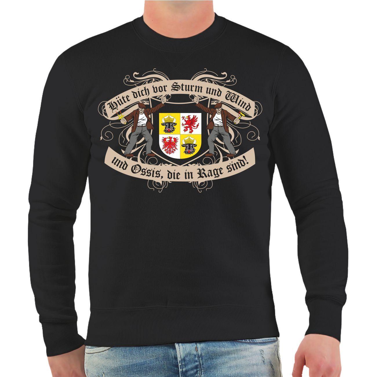 Pullover Felpa sta 'Meclemburgo Pomerania occidentale occidentale occidentale Oriente Germania est DDR 01b515