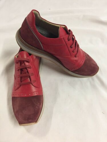 Freeman Plat EASY JOGGER RED  Men's Leather Boot  SNEAKERS  Size 9.5 EUR 42.5