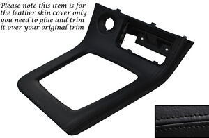 BLACK-LEATHER-GEAR-SURROUND-SKIN-COVER-FITS-NISSAN-SKYLINE-GTS-GTR-R33-93-98