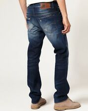 """G-Star Raw Mens Boys 3301 Tappered Jeans 26"""" x 34"""" BNWT Matrix Denim Dark Aged"""