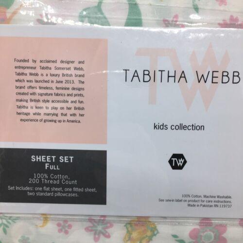 4pc Mermaid FULL Sheet Set Floral Ocean Millennial Pink Mint Green Tabitha Webb