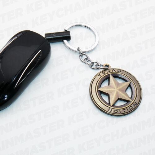 Universal Texas Edition Emblem Alloy Car Keychain Ring Decoration Gift Sport SUV