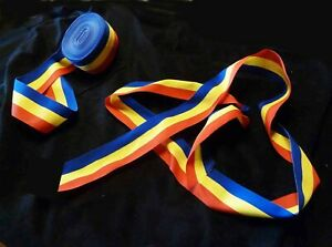"Romanian Transylvania Folk Costume BELT red-yellow-blue, color of flag 60"" long"