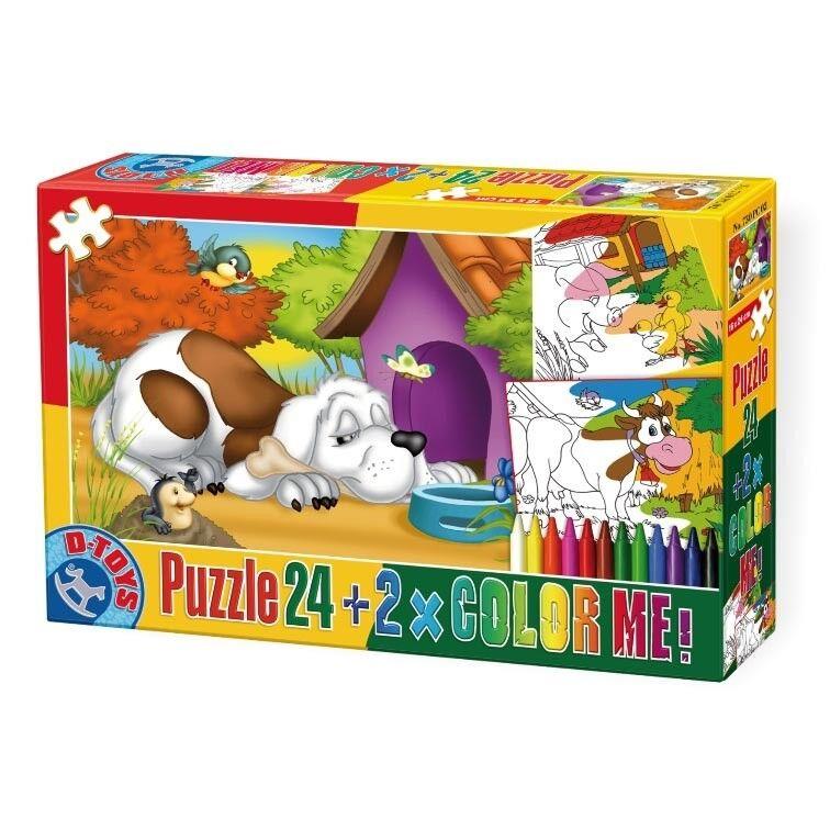 DT60730-PC-02 - -  D-Toys - DT60730-PC-02 Puzzle 24 + Farbe Me  - Animals 2 69d1dc