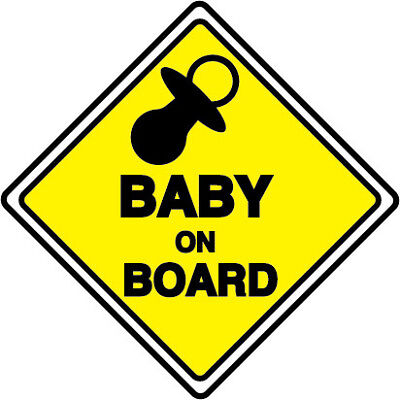Responsible Baby On Board Safety Decals Sticker Cars Window Baby