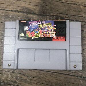Super-Nintendo-SNES-Game-Tetris-amp-Dr-Mario
