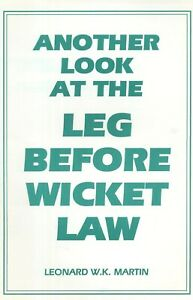 Another Look at LBW Law by Len Martin