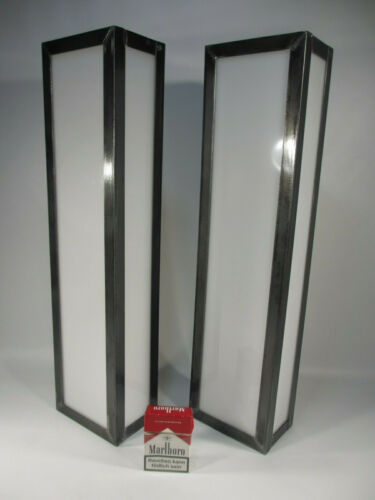 1 von 2 Schwere Art Deco Wandleuchte 60x15 Handarbeit Industrie Design Wandlampe
