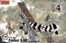 Fokker D Vii (kaizerliche Luftwaffe Aces: loerzer, Berthold, Shaefer) 1/48 Roden
