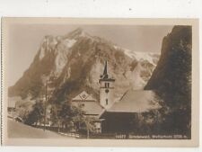Grindelwald Wetterhorn Switzerland Vintage RP Postcard 381b