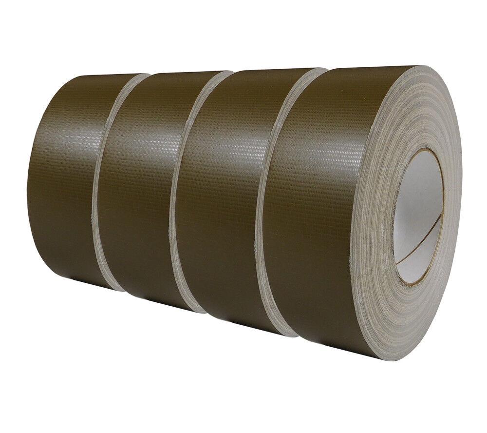 Cinta 100mph 4-Pack USGI MILITAR Spec Oliva impermeable Rollo de 2 in (approx. 5.08 cm) X 60 YD (approx. 54.86 m)