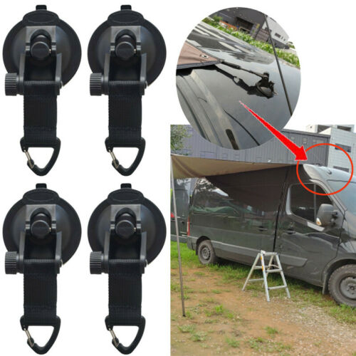 4pieces//kit Tie Down Suction Cup Hook Strong For Car Awning Camping Tarp Boat