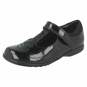 CLARKS-filles-Trixi-Pip-motif-noir-laniere-en-T-Chaussures-d-039-ecole
