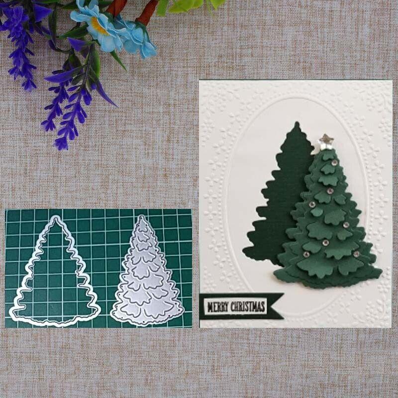 Christmas Tree Metal Cutting Dies Xmas Elk Snowman DIY Die Cut Album Card Making