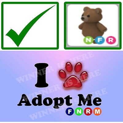 Adopt Me Brown Bear Neon Fly Ride Nfr Pet Is Free With Pc Wallpaper Buy Roblox Ebay