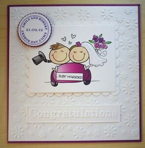 Hand Made WEDDING CONGRATULATIONS Card PERSONALISED For The BRIDE