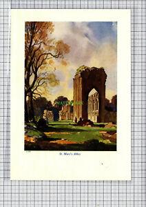 C4297-YORK-St-Mary-039-s-Abbey-Leonard-Squirrell-c-1950-Print