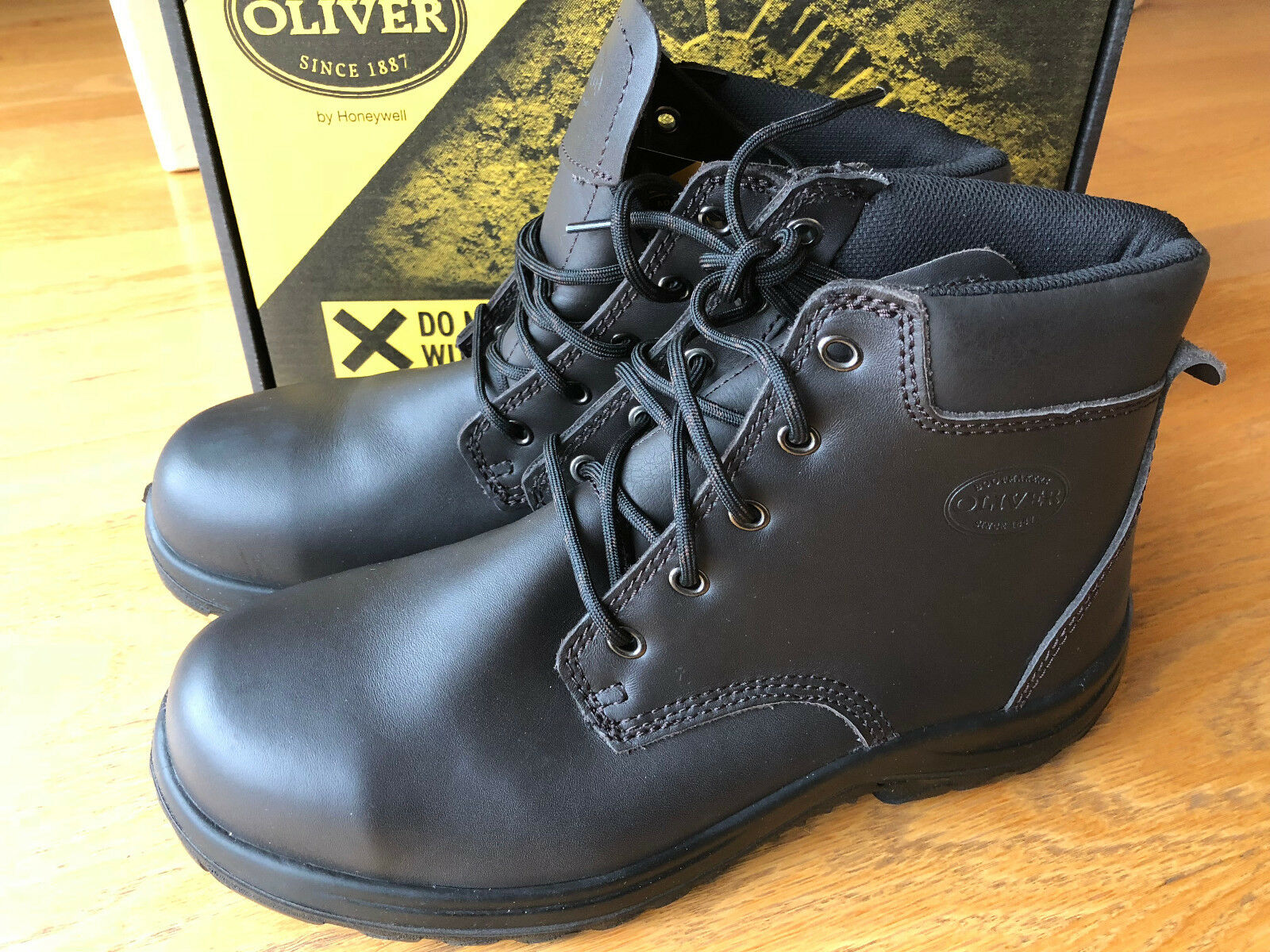 Brand New Oliver Claret Steel Toe Cup Work Safety Boots shoes Size 10 in the Box