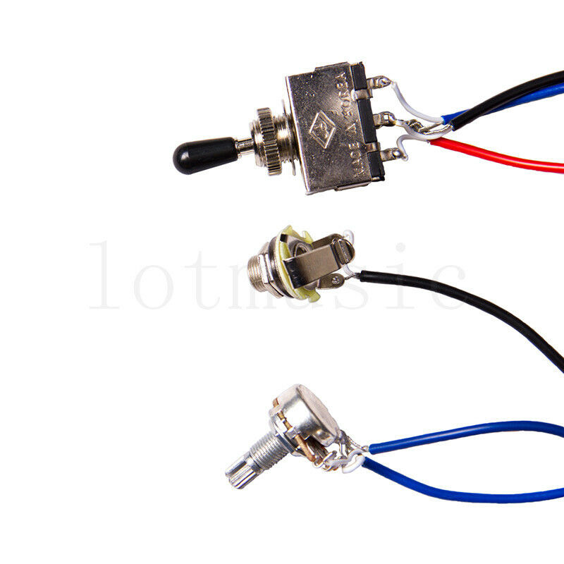 Guitar Wiring Harness Kit 2V2T 3 Way Switch for Gibson Les Paul LP ...