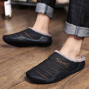 Men-039-s-Winter-Warm-Snow-Fur-Lining-Waterproof-Slippers-Non-slip-Shoes-Indoor