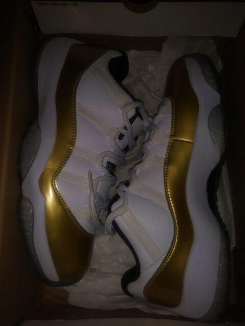034f41507c45 Air Jordan 11 Retro Low White metallic Gold Size 9 for sale online ...