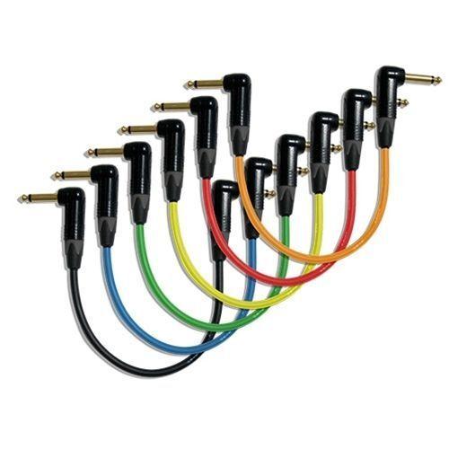 """6 x 12/"""" Bundle-Canare GS6 Pedal Effect Patch Cable w//Neutrik Gold Series RA-RA"""