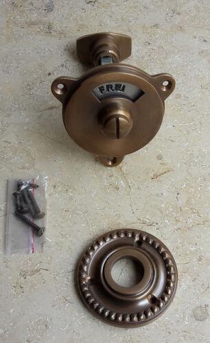 Geschenknet Antik Messing Griffe WC Set Türgriffe Rosetten BB Türbeschlag T6A