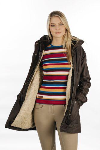 Caché Capuche en marron veste Horseware Elina Parka hiver femmes manteau équitation
