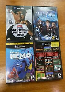 Lot of Four Nintendo GameCube Games - Harry Potter, Tiger Woods, Namco Museum