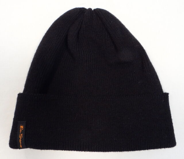 af7762bb818 Buy Ben Sherman Mens One Size Black Acrylic Knit Hat Beanie Bs4687 ...