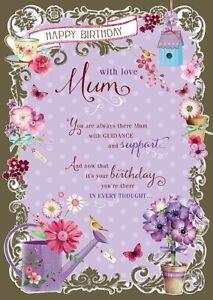 Geburtstagskarte Schreiben Mama.Details Zu Geburtstagskarte Alles Gute Zum Geburtstag Mutter Wunschbrunnen B69