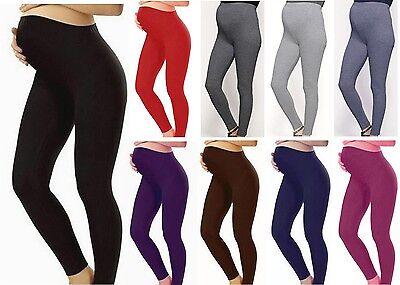 Womens Full Length Maternity Cotton Leggings Pregnancy Wear Sizes 6-24 Geeignet FüR MäNner, Frauen Und Kinder