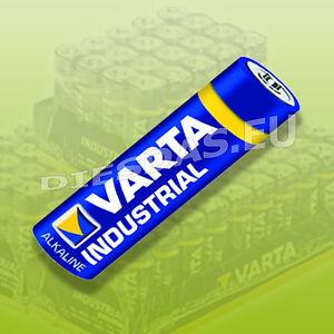 50 STK Varta AA Mignon LR06 4006 INDUSTRIAL BATTERY in 4 Plastics 50X
