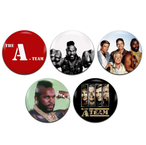 T 25mm 1 Inch D Pin Button Badges 5x The A-Team Mr