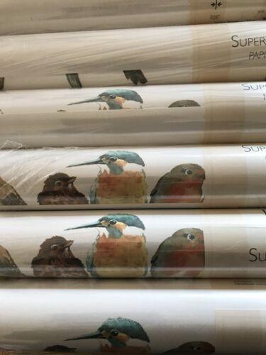 LAURA ASHLEY GARDEN BIRDS MULTI WALLPAPER ROLLS RARE