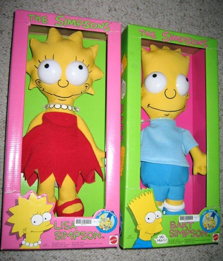marcas en línea venta barata Simpson Lisa y Bart Bart Bart Trapo Muñeca Marca Nuevo Sellado Menta en Caja Lote 2 figura  ventas en linea