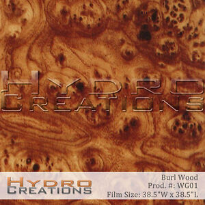 HYDROGRAPHIC FILM FOR HYDRO DIPPING WATER TRANSFER FILM BURL WOOD - WOOD GRAIN