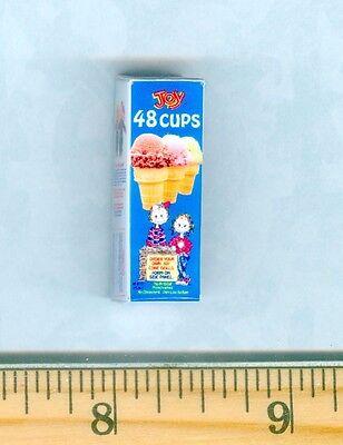 DOLLHOUSE Miniature SIZE  Ice Cream Cones Box # CM