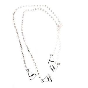 Adjustable Detachable Invisible Bra Straps Rhinestone Diamante Pearl Metal UK