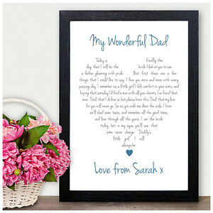 Details About Personalised Love Heart Keepsake Poem Father Of The Bride Thank You Gifts Favour
