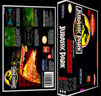 Jurassic Park - Snes Reproduction Art Case/box No Game.