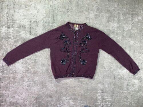 Bonnie Strauss Vintage Embellished Sweater Size Sm