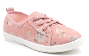 Tanggo 7713 Flat Slip-On Women's Casual Rubber Shoes Lace Up (peach)  SIZE 38