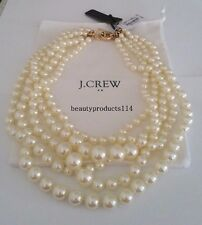 NWT J.Crew Factory Multistrand Pearl Statement Necklace 100% Authentic Free Ship