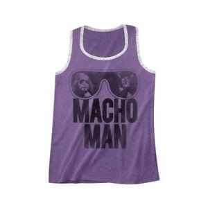 OFFICIAL-Macho-Man-Randy-Savage-Sunglasses-Men-039-s-Contrast-Tank-Top